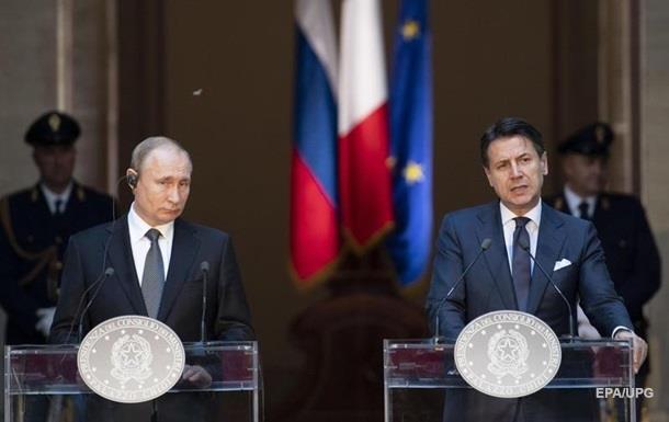 Рим працює над скасуванням санкцій проти РФ - прем єр Італії