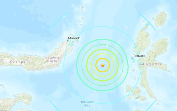 Біля берегів Індонезії стався сильний землетрус