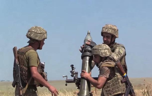 Військові показали відео змагань мінометників в ООС