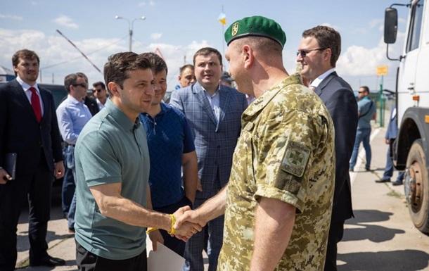 Зеленський вперше відвідав адмінкордон з Кримом