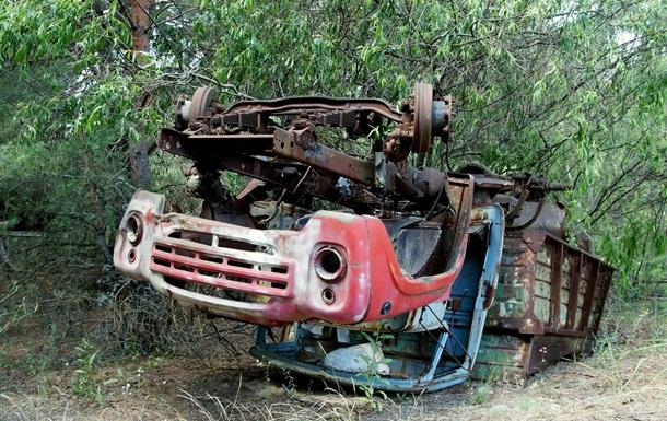 В Чернобыле нашли радиоактивный грузовик