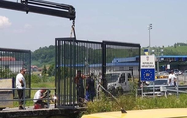 Словения строит  стену  на границе с Хорватией
