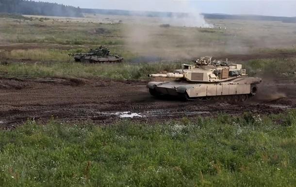У Мережі показали навчання танків Abrams і Т-72