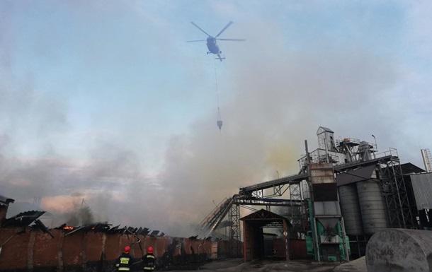 В Нежине произошел крупный пожар на жиркомбинате
