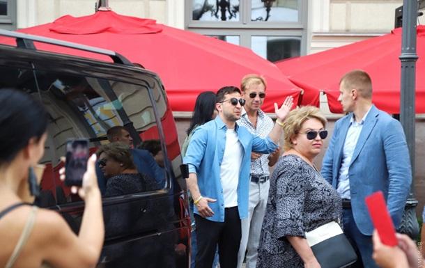 Зеленський побував в Одесі на зйомках Ліги сміху