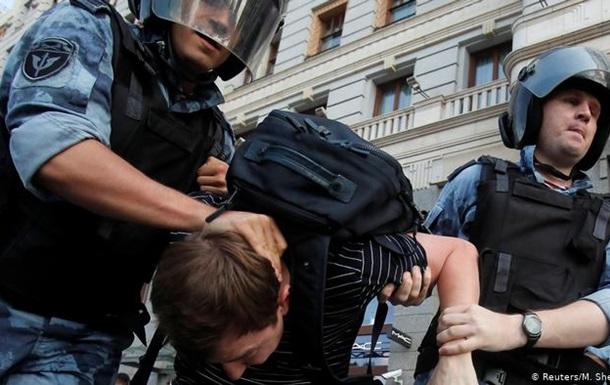 Москва: з 3500 демонстрантів понад 1000 затриманих