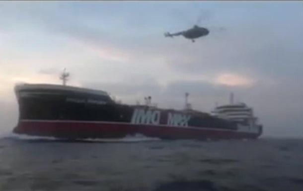 Іран опублікував відео захоплення британського танкера