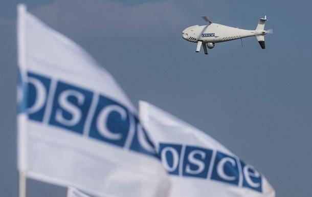На Луганщине беспилотник ОБСЕ получил повреждения при обстреле