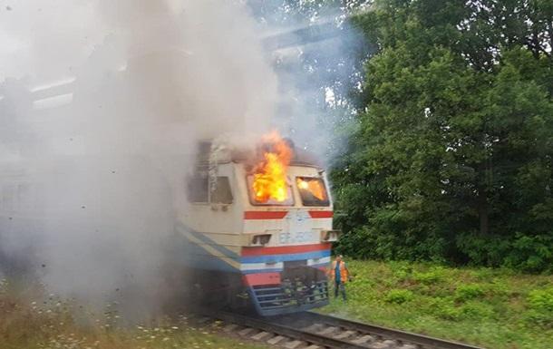 У Вінницькій області на ходу загорілася електричка