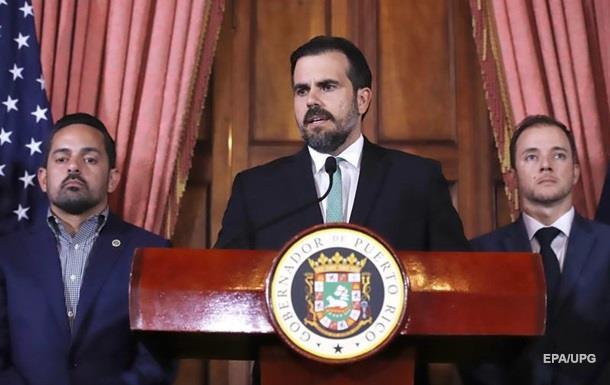 Губернатор Пуэрто-Рико ушел в отставку из-за протестов