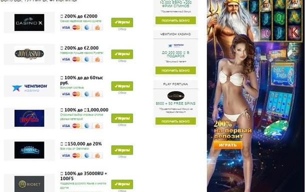 Топовые онлайн казино. Советы выбора.