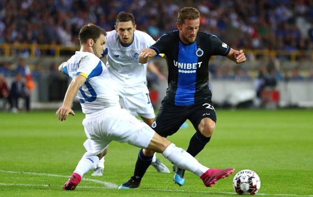 Динамо уступило Брюгге в первом матче квалификации ЛЧ