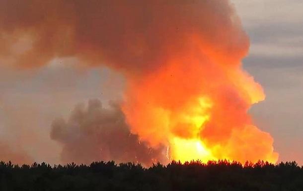 Пожежу на арсеналі під Ачинськом у Росії повністю ліквідовано