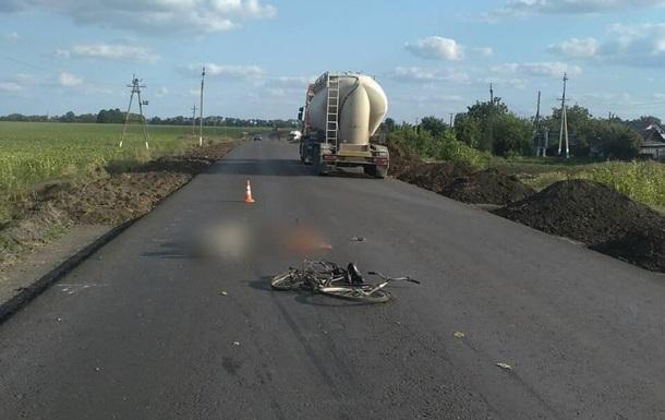 У Харківській області вантажівка переїхала велосипедиста