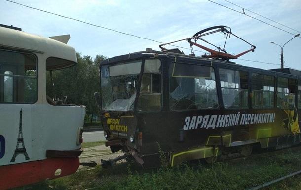 В Харькове столкнулись два трамвая, есть пострадавшие