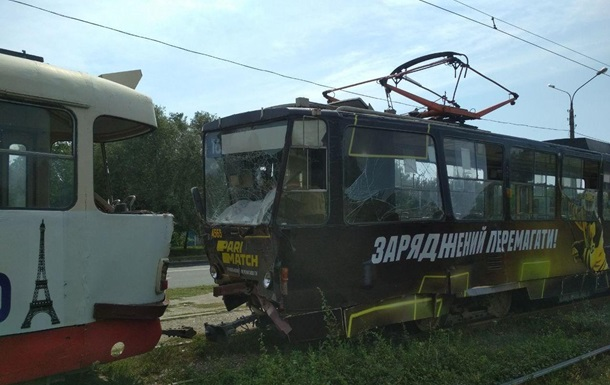 У Харкові зіткнулися два трамваї, є постраждалі