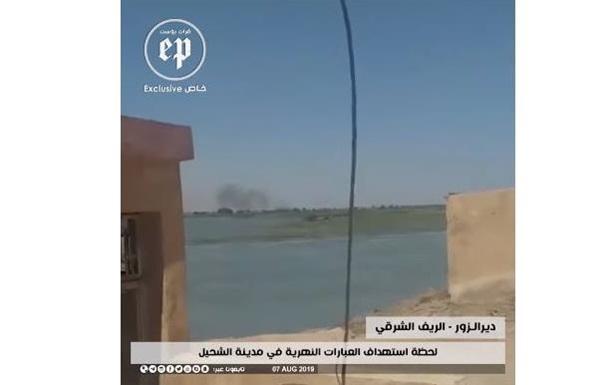 З явилося відео обстрілу судна з нафтою курдами