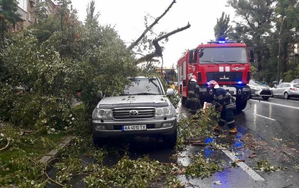 У Києві буря зносила покажчики і банери