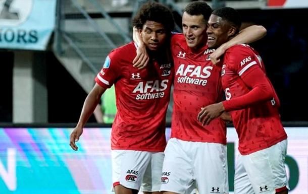 АЗ одержал победу в чемпионате Нидерландов перед матчем с Мариуполем