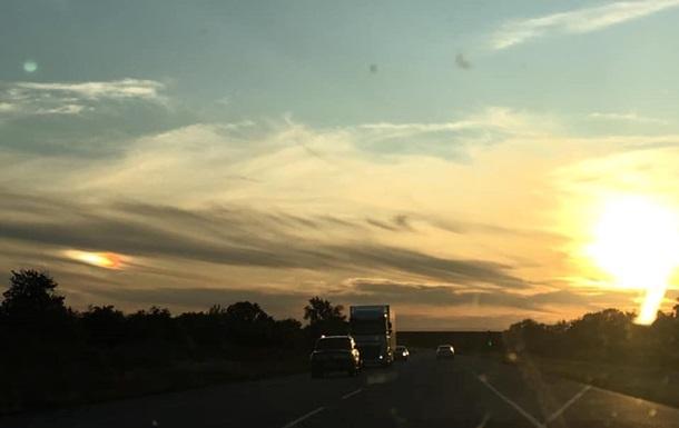 У Полтавській області сфотографували  два  сонця