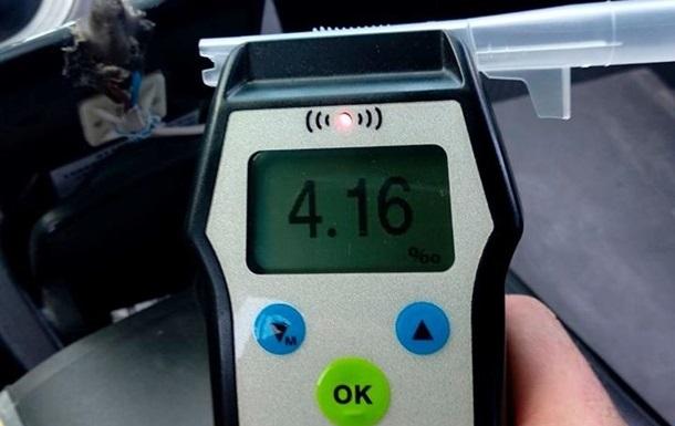Патрульні показали статистику щодо п яних водіїв