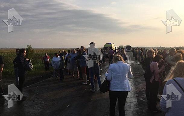 Під Москвою пасажирський літак здійснив жорстку посадку і загорівся