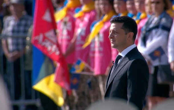 В Киеве прошла церемония поднятия флага Украины