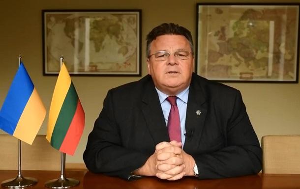 Глава МИД Литвы записал видеообращение на украинском языке