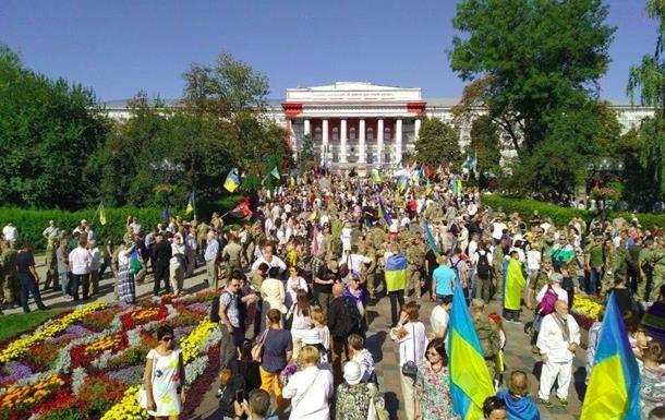 На святкуванні Дня Незалежності в Києві затримали три людини