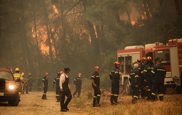 Лісові пожежі в Греції: евакуйовано сотні туристів