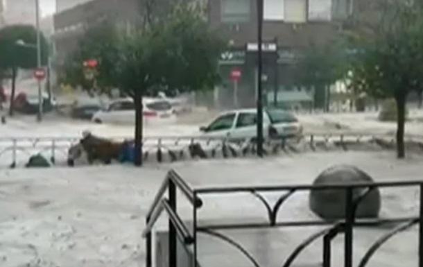 Потужна злива затопила Мадрид