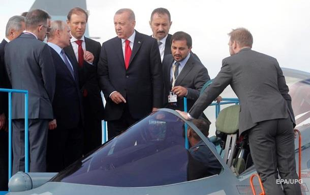 Путін показав Ердогану новітній винищувач Су-57