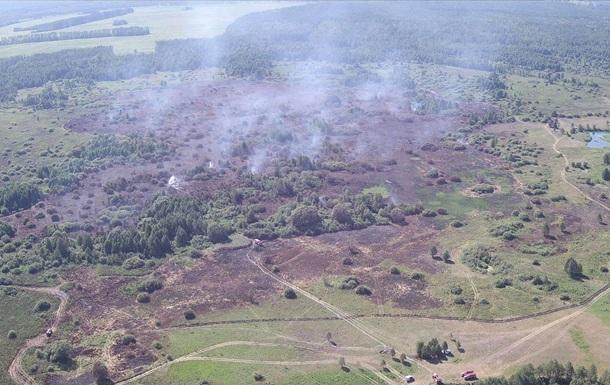 В Черниговской области загорелись пять торфяников