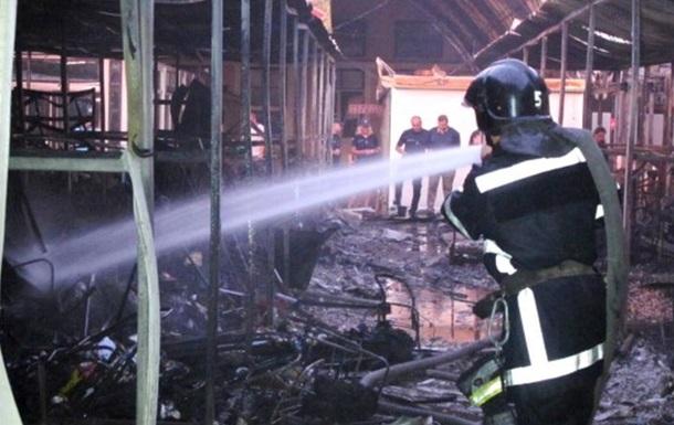 В Одесі сталася масштабна пожежа на великому ринку