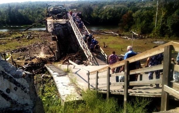 Станиця Луганська: українська сторона обстежила зруйнований міст