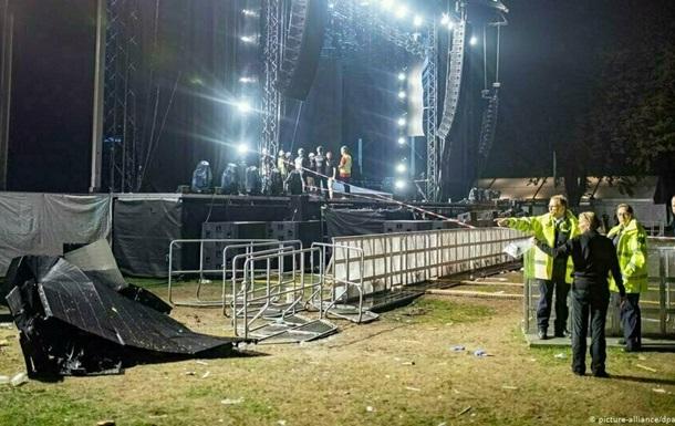 В Германии на концерте упал экран: 28 человек пострадали