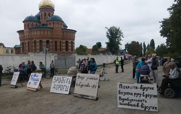 Жители села под Черкассами построили баррикады