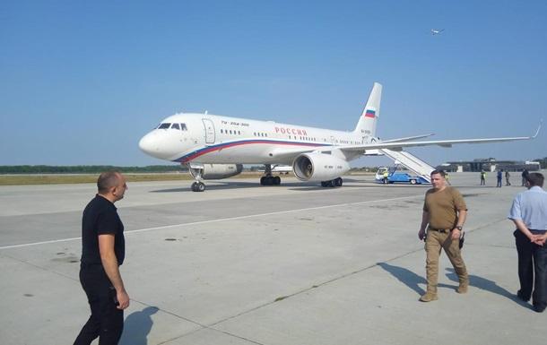 Появилось видео российского самолета в Борисполе