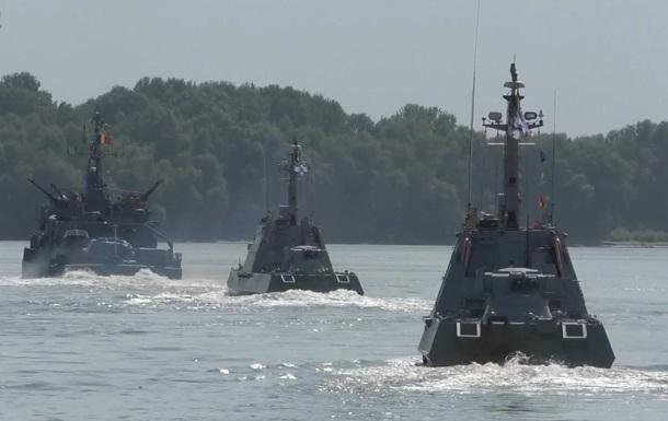 Міноборони показало військові навчання на Дунаї