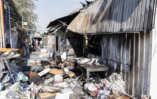 У Києві горів ринок, є постраждала