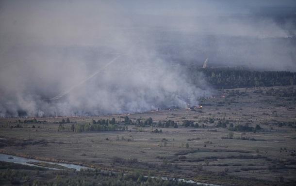 Площа пожежі в Чорнобильській зоні зросла втричі