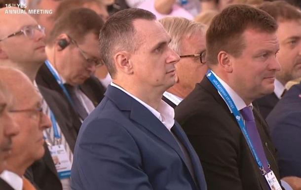 Сенцов открыл форум YES вместо Зеленского