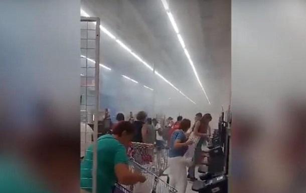 У супермаркеті Києва спалахнула піч