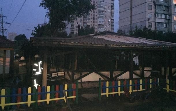 В Киеве ночью горел ресторан