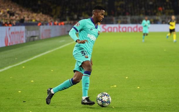 Фаті став наймолодшим гравцем Барселони, що зіграв у Лізі чемпіонів