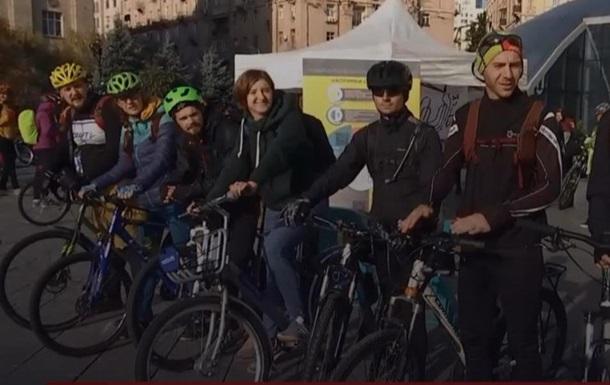 В Киеве провели велоакцию