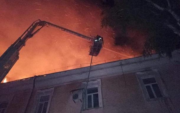 В Луцке произошел пожар в военном госпитале