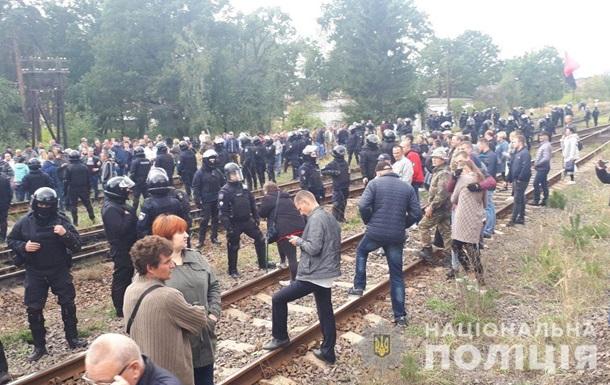 Поліція розігнала блокаду залізниці на Львівщині