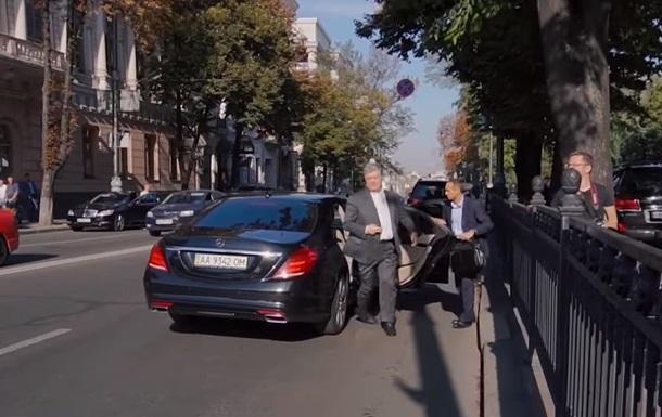 Петра Порошенко поймали на нарушении ПДД