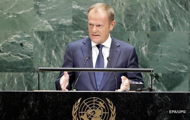 Туск закликав до солідарності з  слабкою  Україною